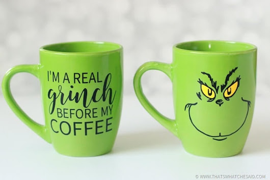 Grinch Inspired Coffee Mugs