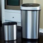 Nine Stars Stainless Steel Sensor Trash Can Set - 13.2 gal. / 2.1 gal.