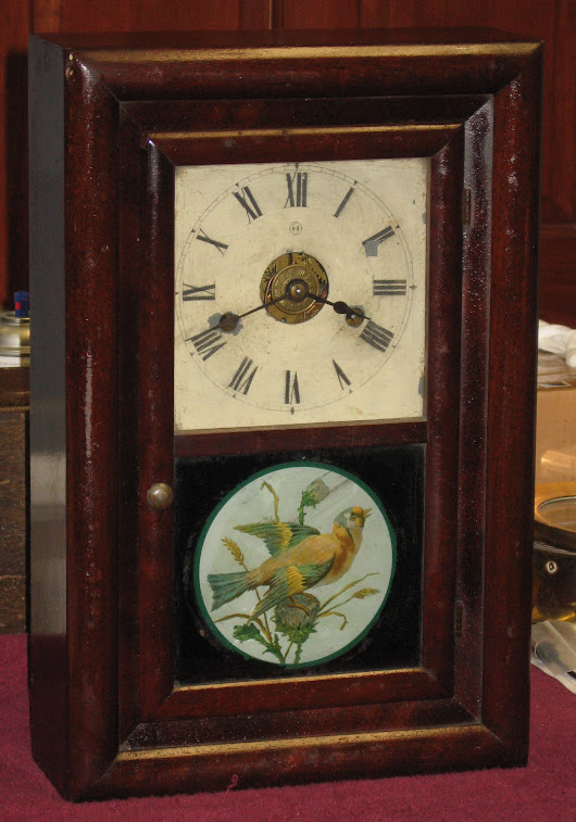 "Seth Thomas ""Round Band"" Shelf Clock Made in 1884"