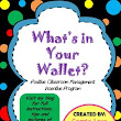 What's in your Wallet? - Positive Classroom Management Incentive Program