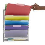 Mind Reader Mesh 6 Pocket Vertical Desk Organizer - Silver