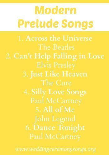Prelude Songs   Wedding Prelude Songs   Prelude wedding
