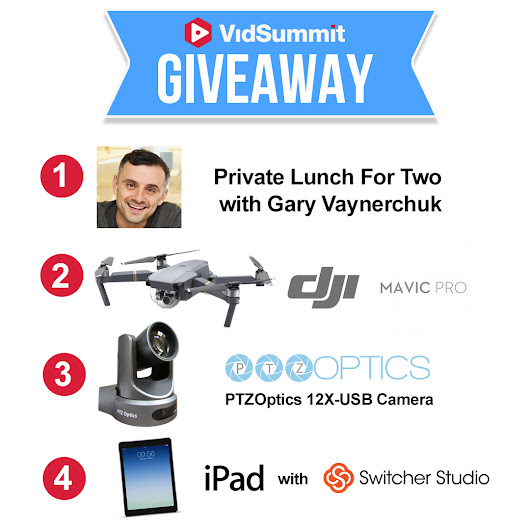 Drone, Lunch with Gary, iPad, PTZOptics VidSummit GiveAway
