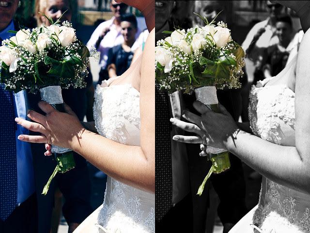 El ramo de flores de la novia