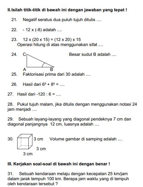 Soal Ukk Tematik Kelas 5 Tema 6 Dan Jawabannya