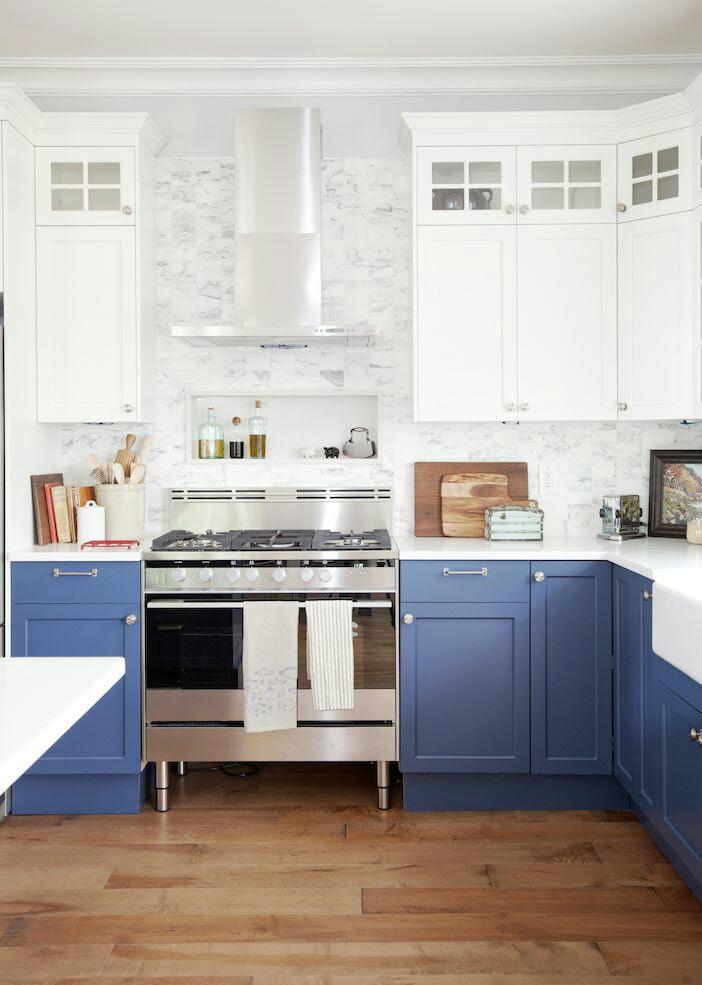 Sky Blue Kitchen Design Ideas | InteriorHolic.com