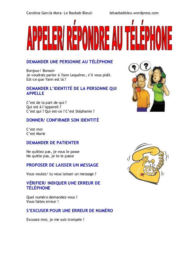 Rozmowa telefoniczna - słownictwo 13 - Francuski przy kawie