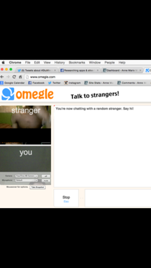 "Parents Need to Talk to Their Kids About The Website ""Omegle"" NOW. - Anne Marie Miller 