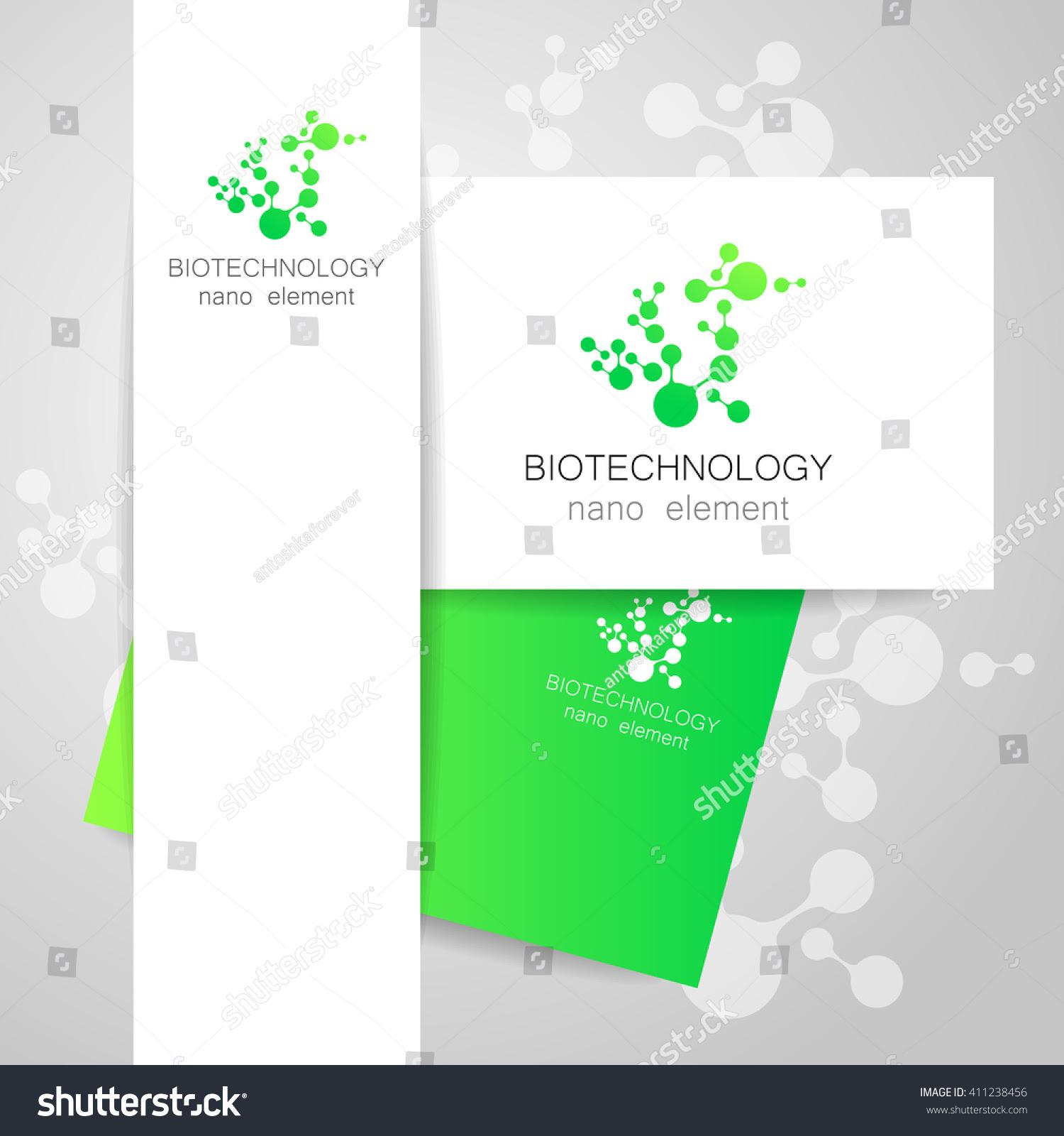 Biotechnology. Symbol Molecule. Logo. Nanotechnology ...