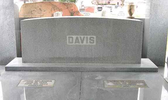 Davis Memorial tombs