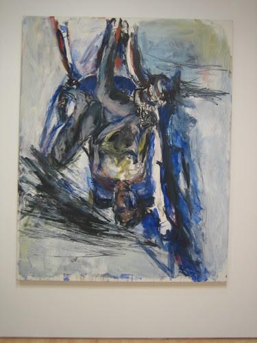 Elke im Lehnstuhl (Elke in Armchair), 1976, Georg Baselitz // Calder to Warhol: Introducing to Fisher Collection, SFMOMA _6619
