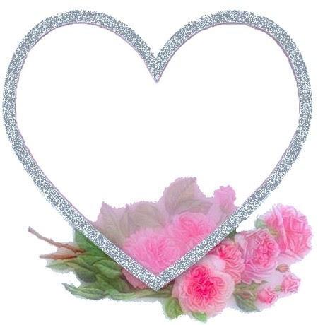 cadre coeur et fleurs