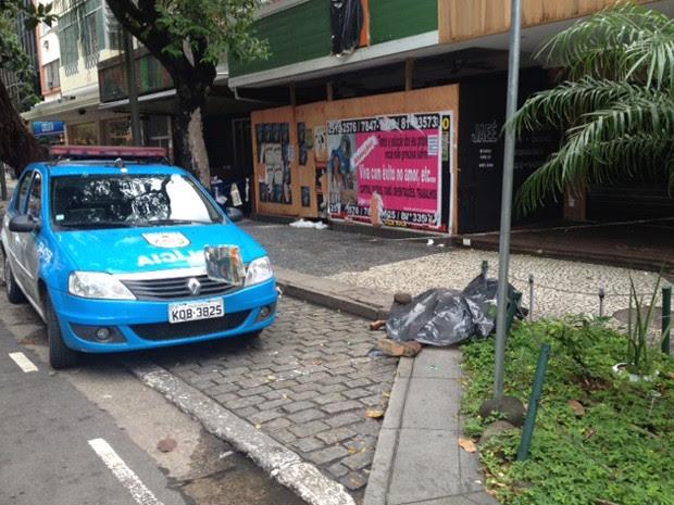 Flanelinha foi morto na manhã deste sábado na Avenida Ataulfo de Paiva (Foto: Mariucha Machado / G1)