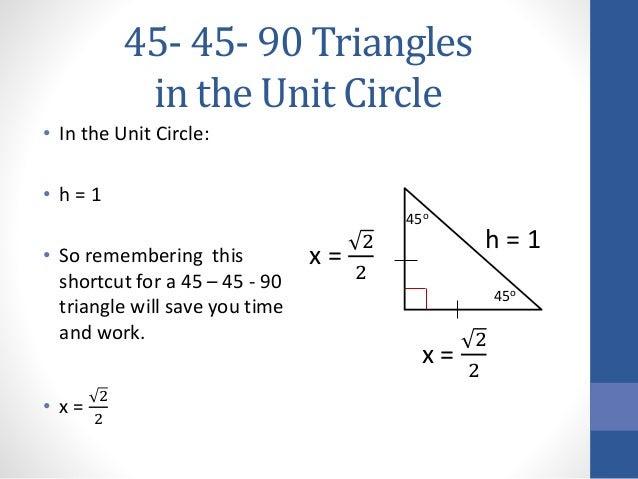 45 45-90 triangles