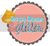 juice boxes and glitter