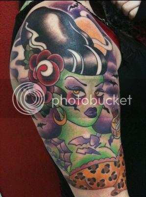 mimsy's trailer trash bride of frankenstein tattoo