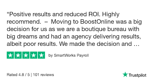 SmartWorks Payroll gave BoostOnline 5 stars. Check out the full review...
