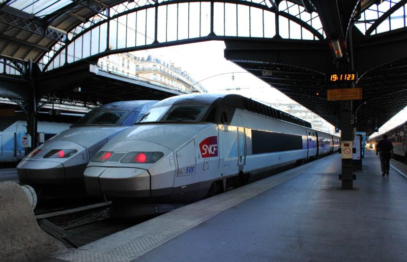 TGV SNCF 508 in Paris France