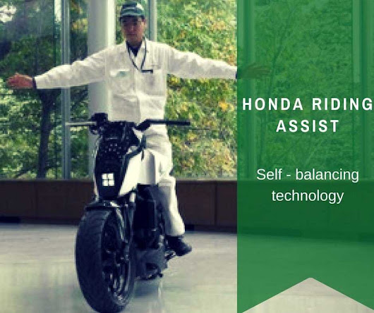 Honda Riding Assist - A Self Balancing Bike Concept | iGadgetsworld