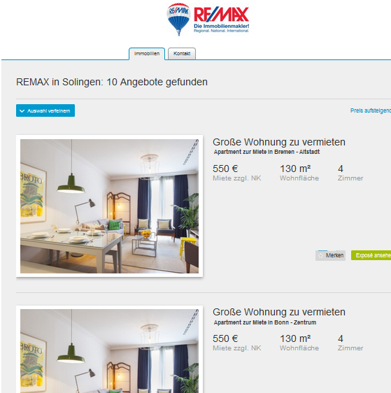 reply to parpa200 im gehackten makler account von remax. Black Bedroom Furniture Sets. Home Design Ideas