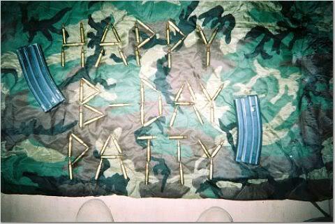 Birthday greetings from Iraq