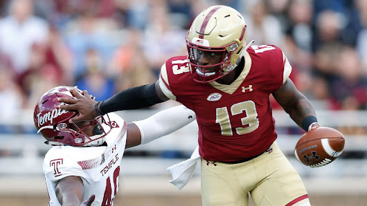 BC QB Brown hospitalized with 'internal' injury