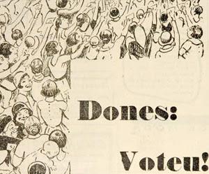 Dibujo de Opisso en la revista la rambla. Foto: Pep Paret