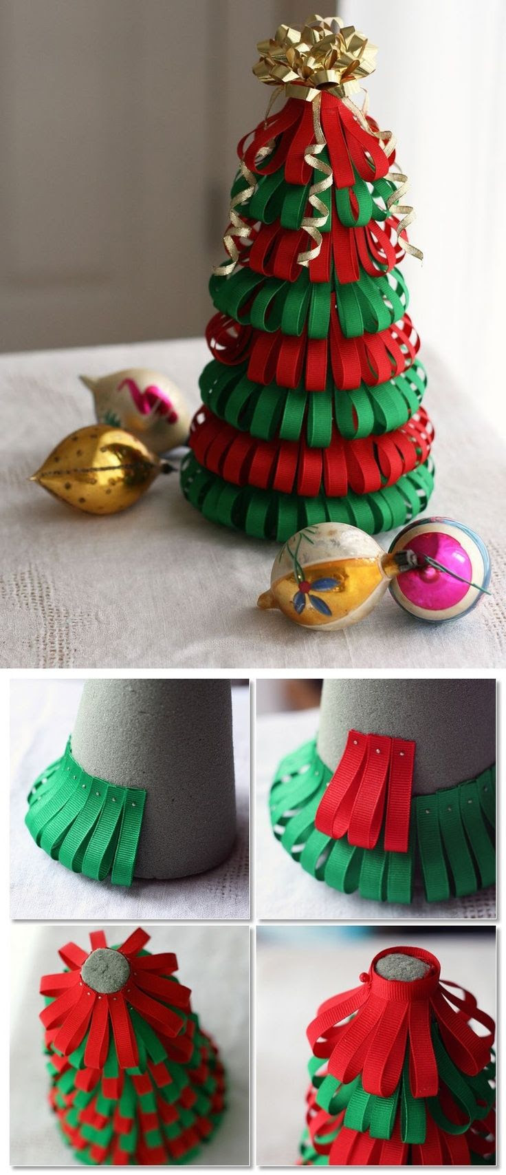 DIY Ribbon Christmas Tree Pictures, Photos, and Images for Facebook