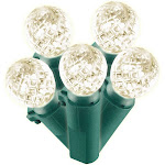 Philips LED 60 Count Warm White Faceted Sphere Lights Green Wire Indoor Outdoor