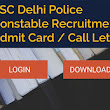 SSC Delhi Police Constable Admit Card 2017 – Download Here