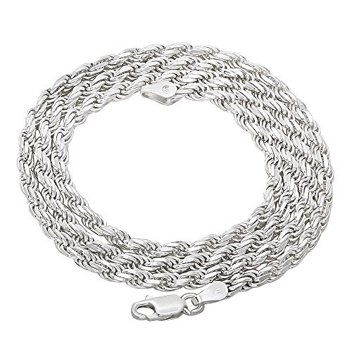 A Genuine Sterling Silver Rope Chain Diamond-Cut Necklace Review