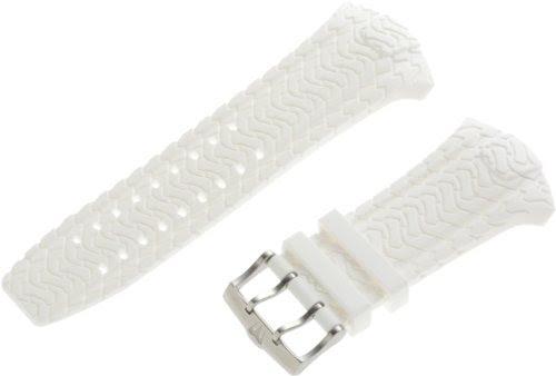 TechnoMarine watches-TechnoMarine 3412L Hummer 22-mm White Long Rubber Strap with Single-