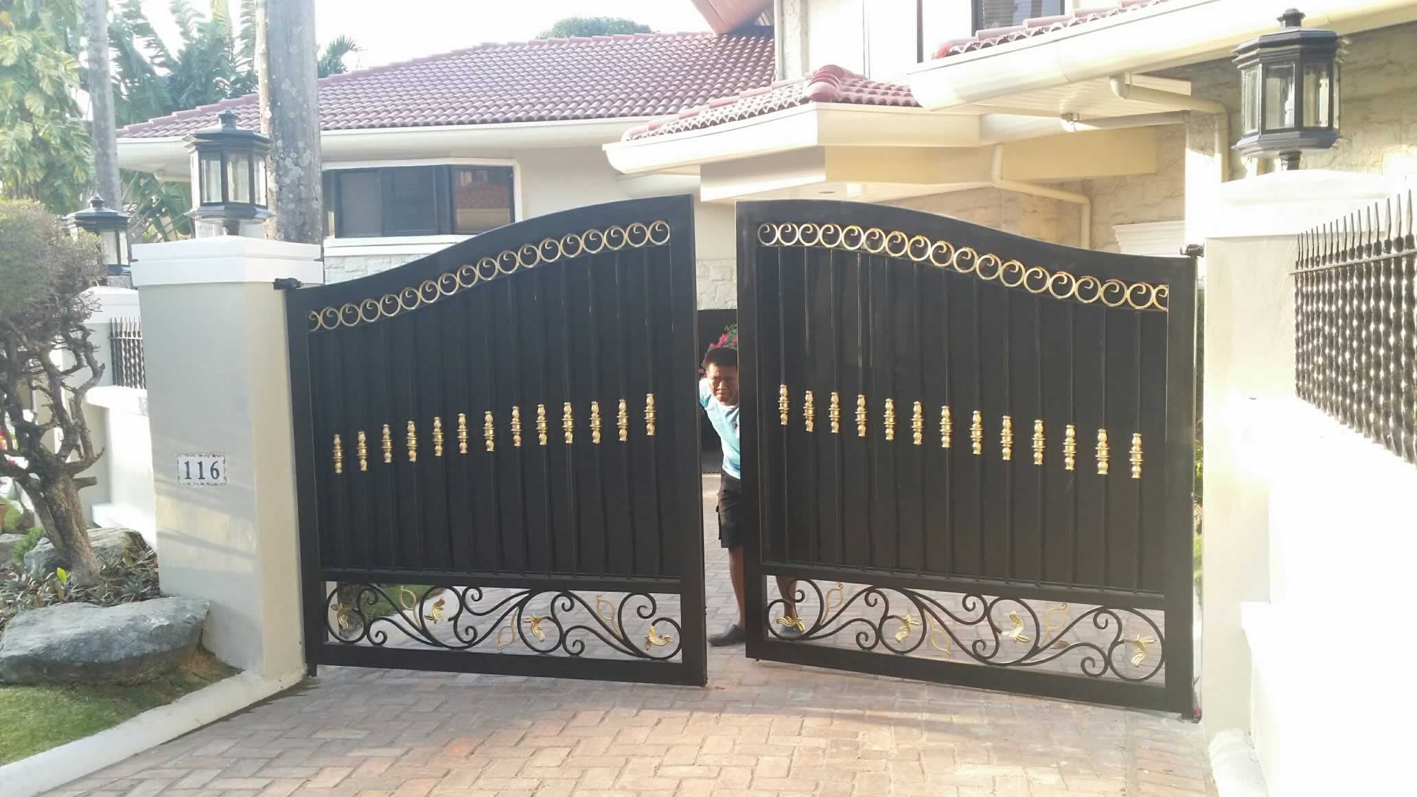 Entrance Gate Fabrication Glass Railings Philippines Glass