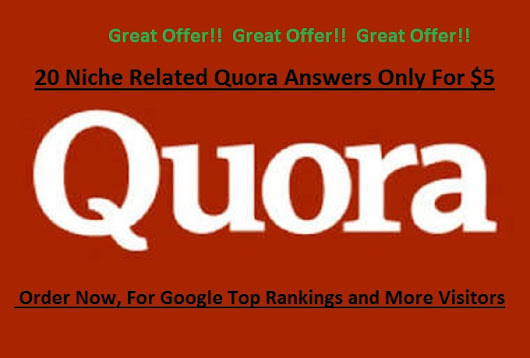 I will make 20 Quora Relevance Answers for you Website Top Ranking