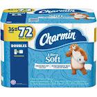 Charmin Ultra Soft Toilet Paper, 36 Double Rolls, White