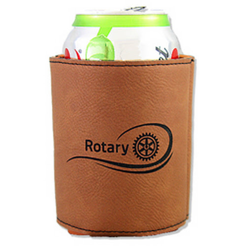 Rotary Leatherette Beverage Holder - Rotary Club Supplies - Russell Hampton Company