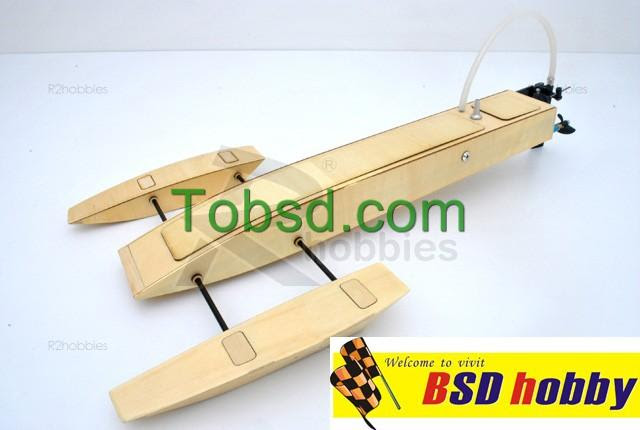 EP Wooden Mini Trident Kit RC Boat outrigger rigger hydroplane hydro