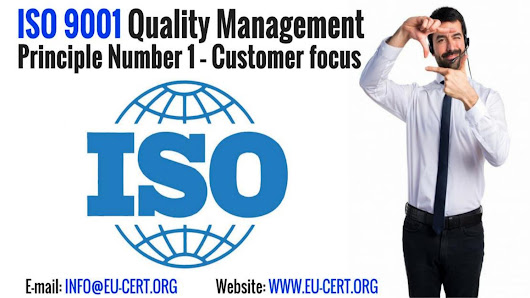 Iso 9001 quality management principle number 1 – customer focus