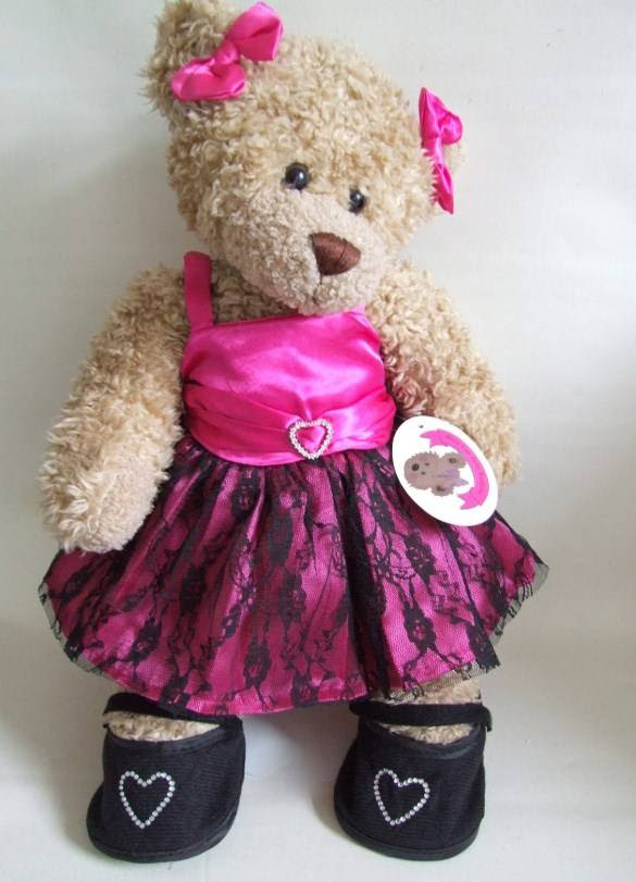 build your bears wardrobe candy pink prom party dress 15in