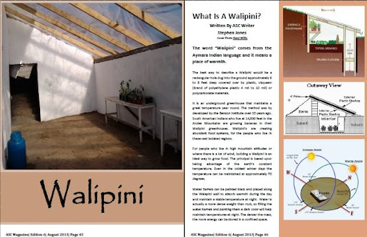 5 Reasons To Grow Your Food In A Walipini | PRLog