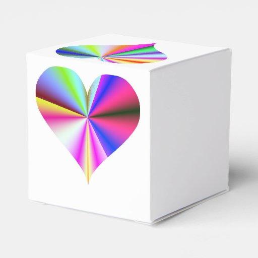 Heart Box Rainbow Wedding Favor Favor Boxes