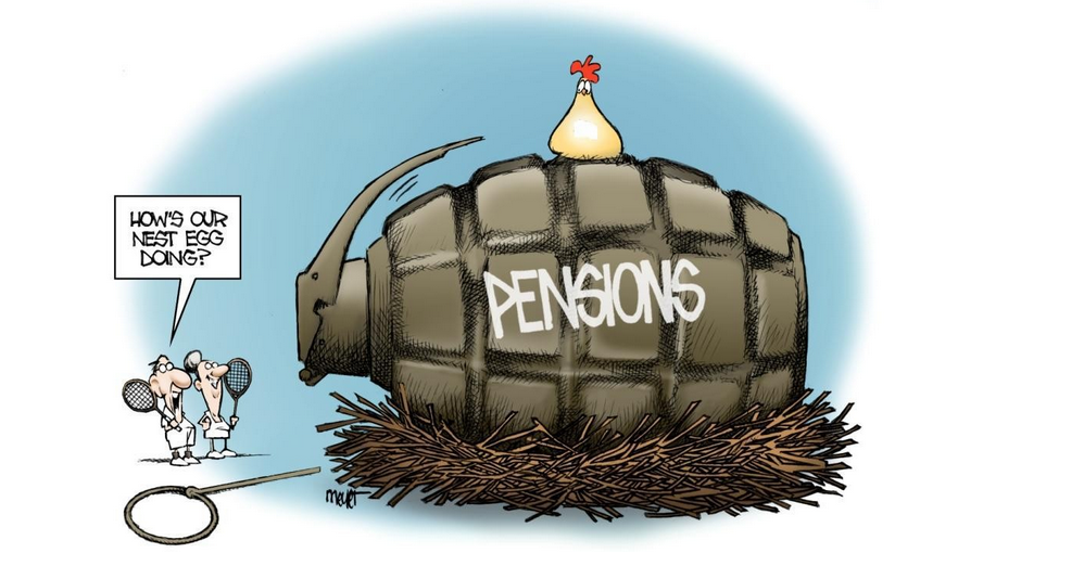 Image result for pension collapse