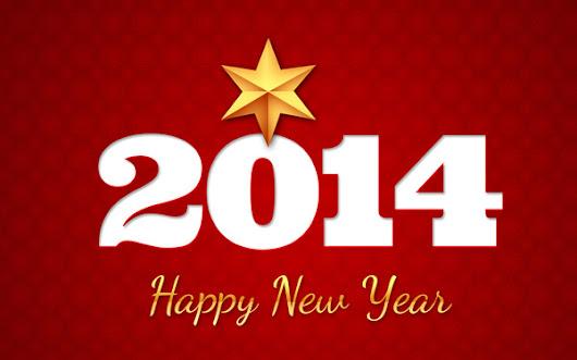 #Photoshop: New Year Greeting Card - Golden Stars and Snowflakes on a Red Background in Adobe Photoshop CS6