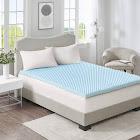 Flexapedic by Sleep Philosophy 3-In. Gel Memory Foam Topper - Blue - Queen