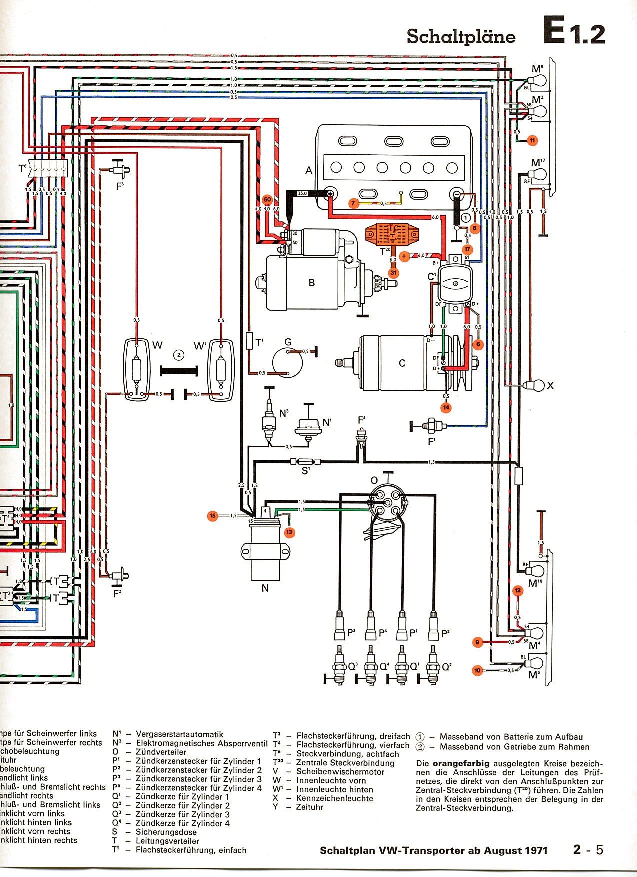 1971 Volkswagen Wiring Diagram