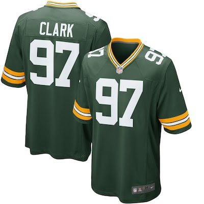 Men's Green Bay Packers Kenny Clark Nike Green 2016 Draft Pick Game Jersey