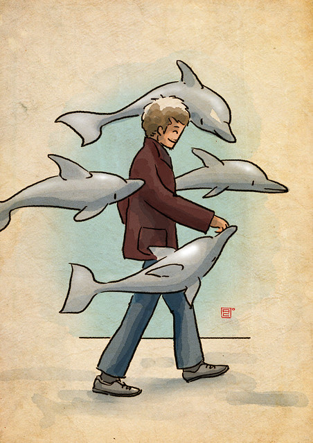 walking with dolphins
