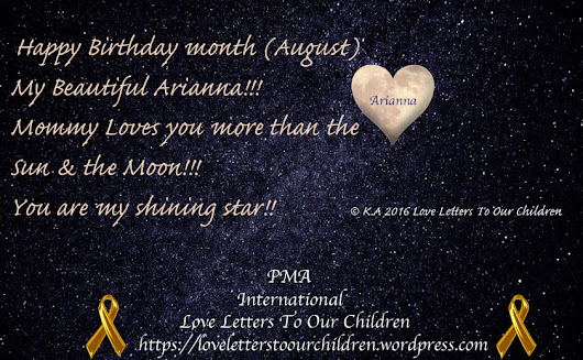 Happy August Birthday Month Arianna( A Birthday Wish From a Protective Mom To Her Beloved Daughter)/ Love Letters To Our Children