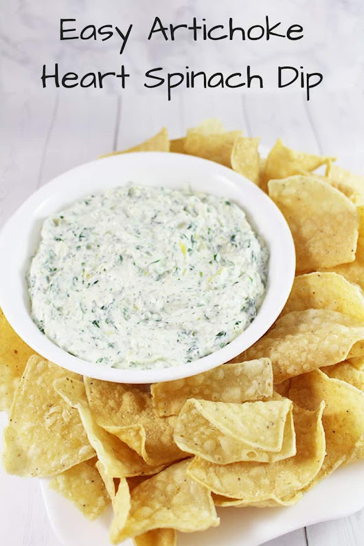 Easy Artichoke Heart Spinach Dip - Savvy In The Kitchen