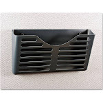 Universal Recycled Plastic Cubicle Single File Pocket Black
